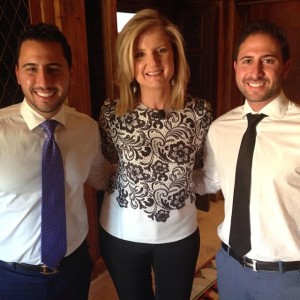 Million Dollar Listing star, Josh Altman, Arianna Huffington, and Josh's brother/business partner, Matt Altman