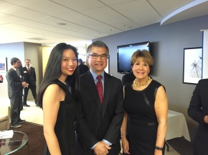 Olive Goh, Gary Locke, and Tere Foster